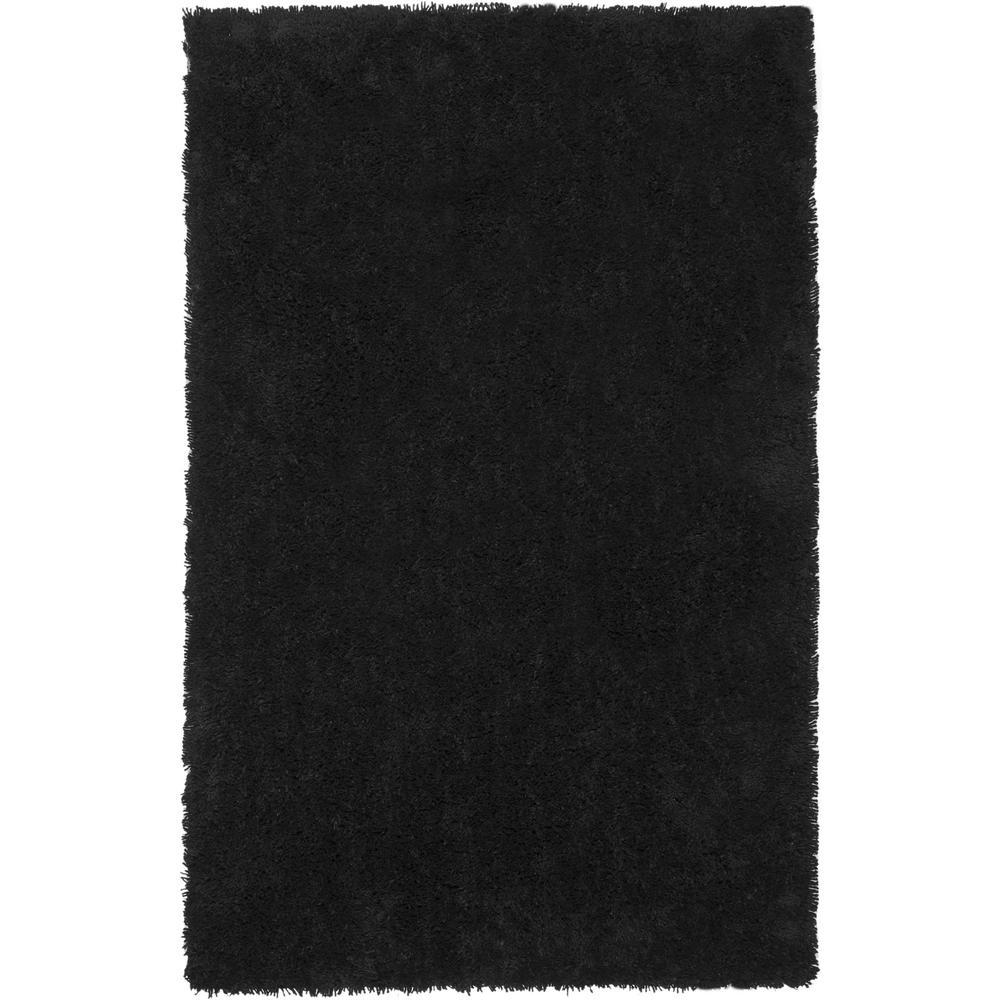 Classic Shag Ultra Black 9 ft. x 12 ft. Area Rug