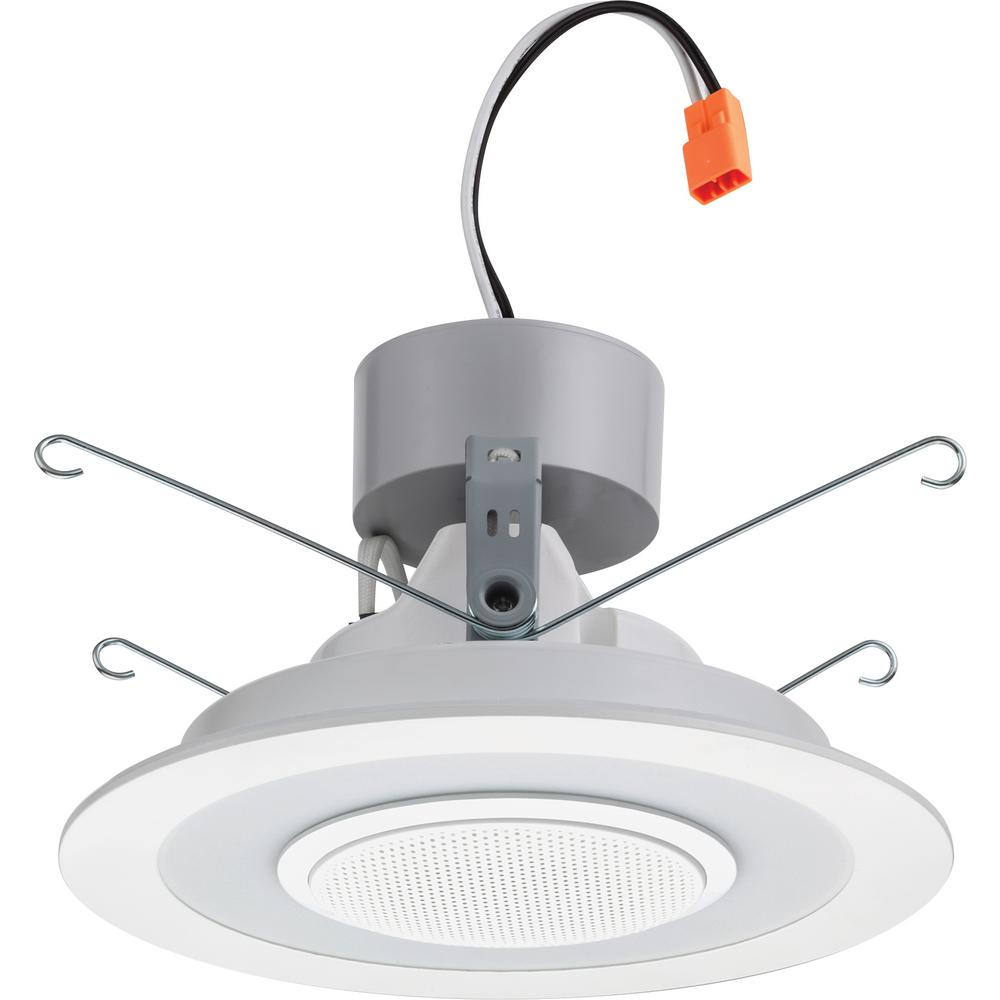 Lithonia Recessed Led Trim: Lithonia Lighting 6 In. White Integrated LED Recessed Trim