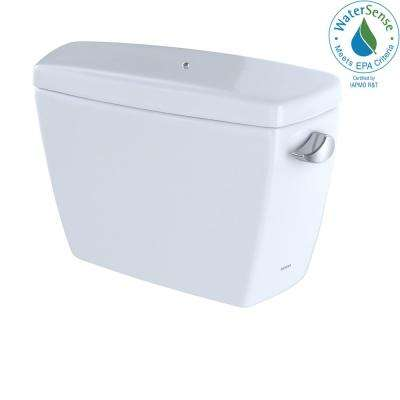 Drake 1.28 GPF Single Flush Toilet Tank Onlywith Right Hand Trip Lever and Bolt Down Lid in Cotton White