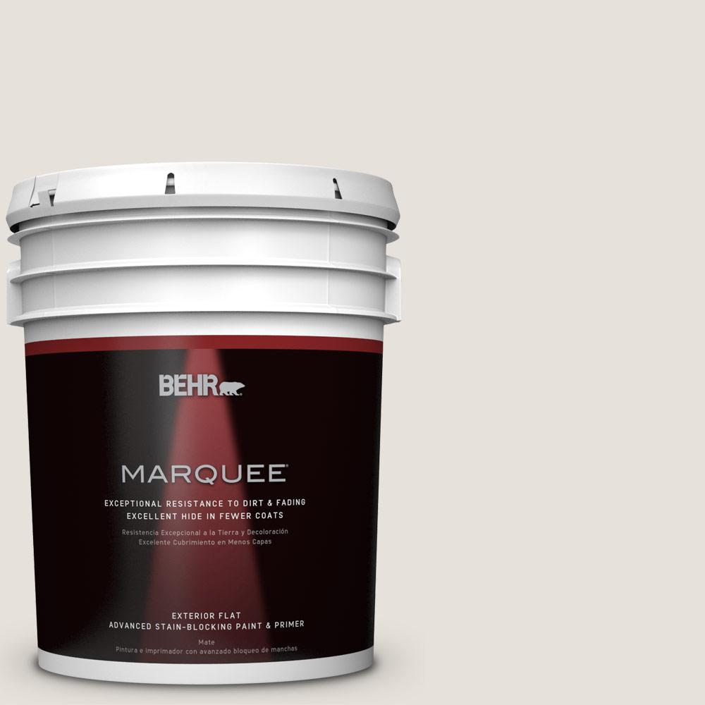 BEHR MARQUEE 5-gal. #N180-1 Barely Brown Flat Exterior Paint