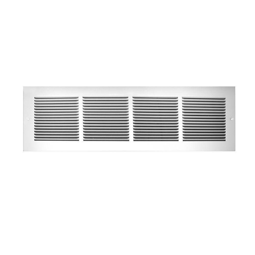 14 in. x 12 in. Fin Spaced Return Air Grille, White