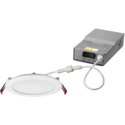new product 9a0e7 4d15d 6 in. Wafer White Selectable New Construction/Remodel Integrated LED  Recessed Kit