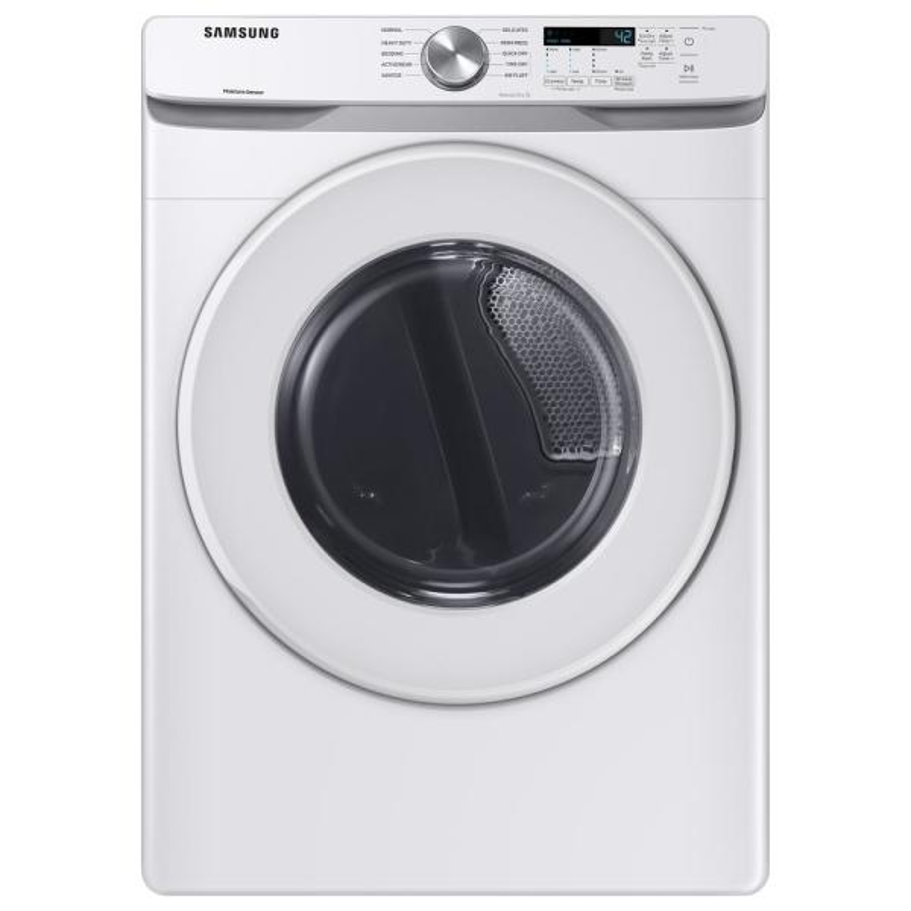 7.5 cu. ft. 240-Volt White Electric Dryer with Sensor Dryer (Pedestals Sold Separately)