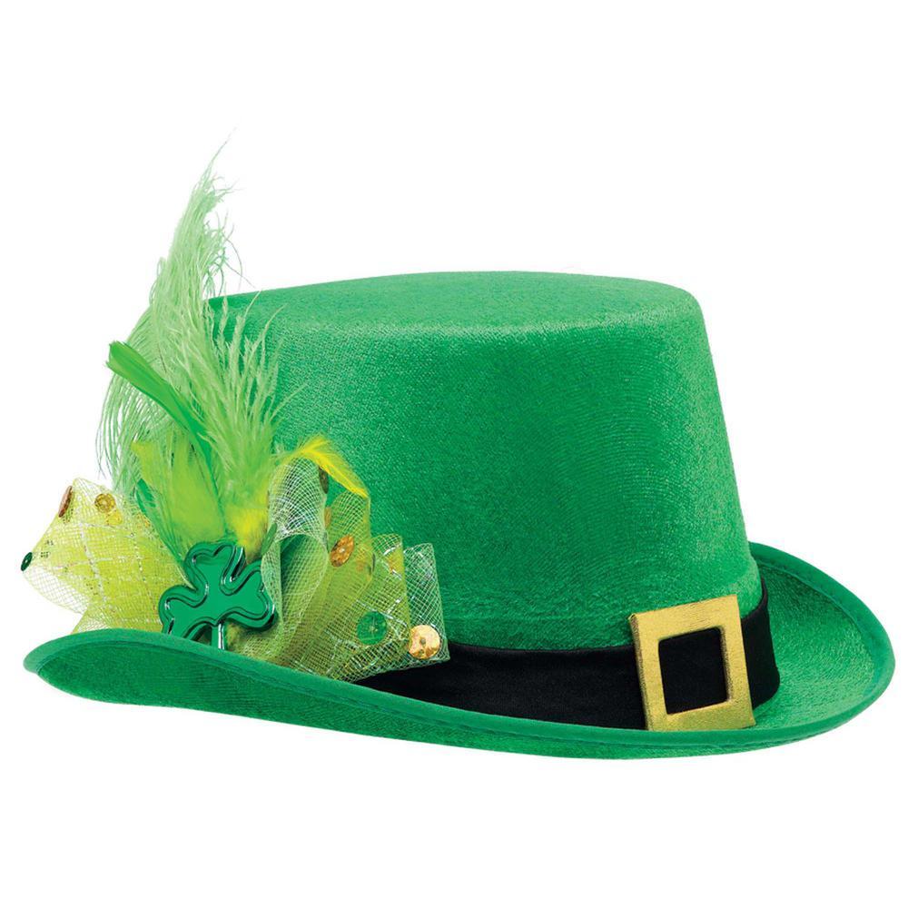 278f3a776e9 Amscan Green Fancy Leprechaun St. Patrick s Day Top Hat-393275 - The ...