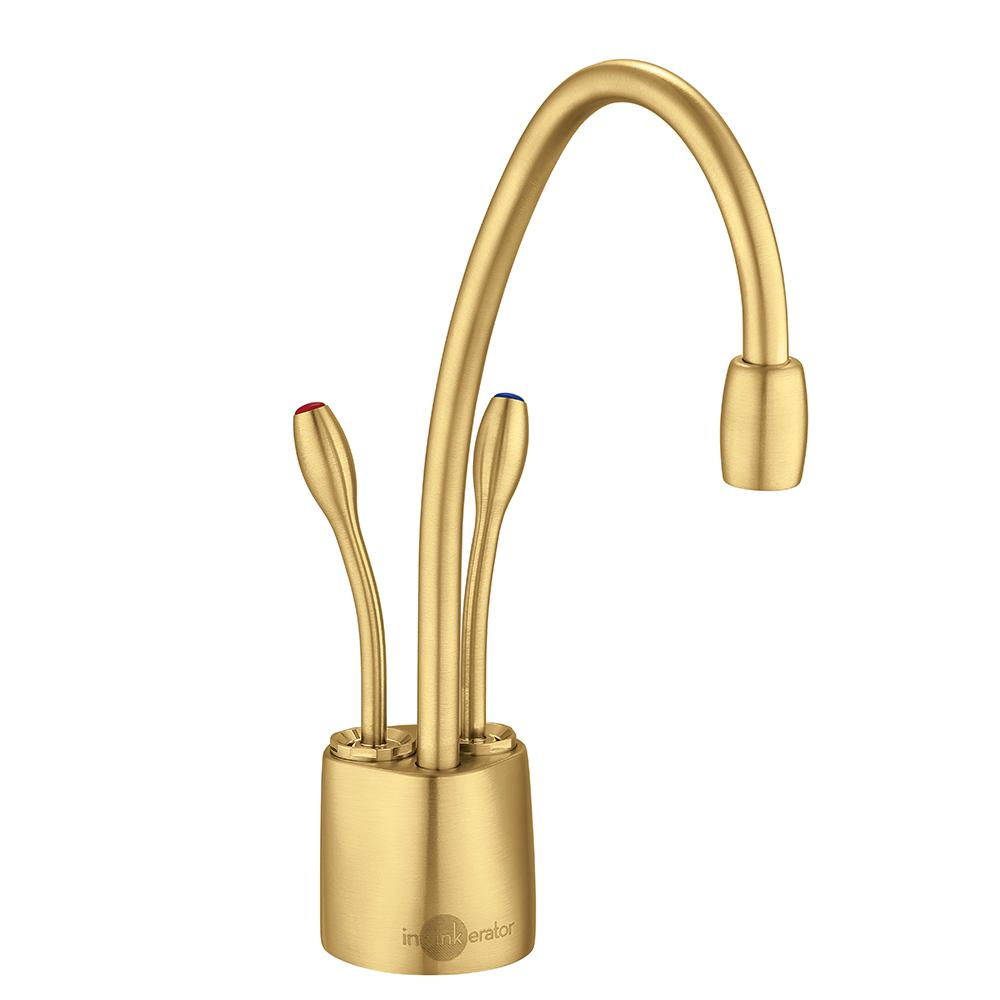 InSinkErator Indulge Contemporary 2 Handle Instant Hot And Cold Water  Dispenser Faucet In Brushed Bronze