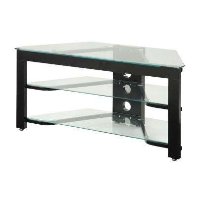Corner Unit Black Tv Stands Living Room Furniture The Home Depot