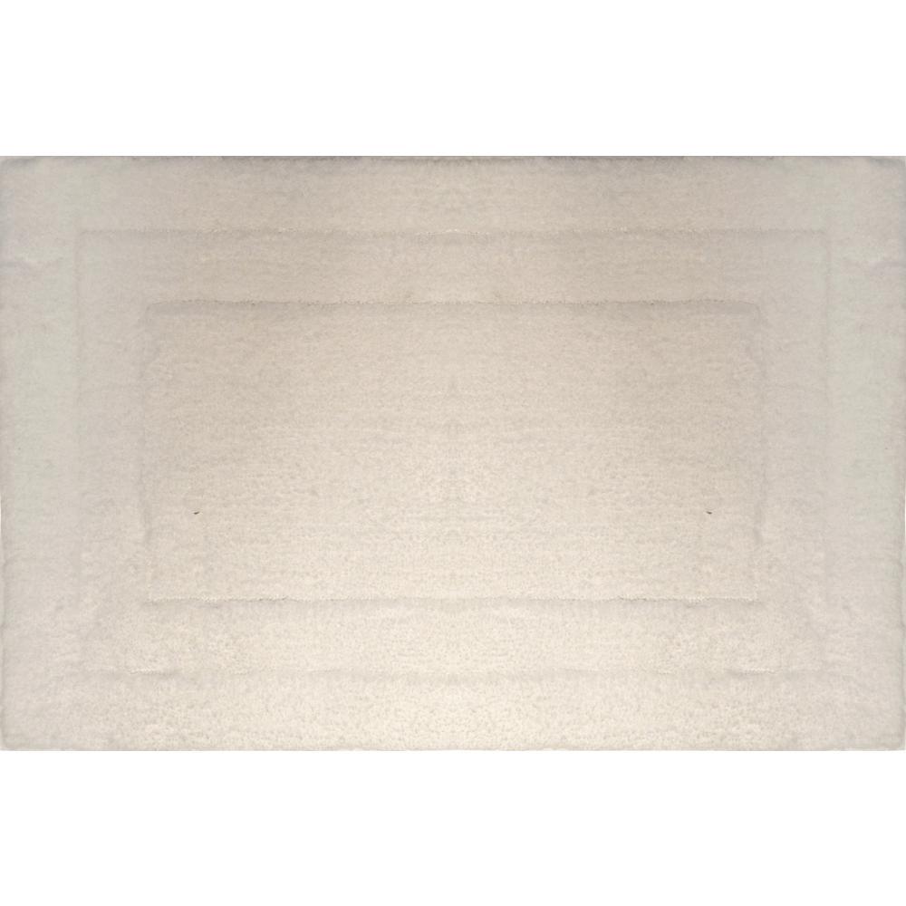 Loft Beige 21 in. x 34 in. Microfiber Bath Mat