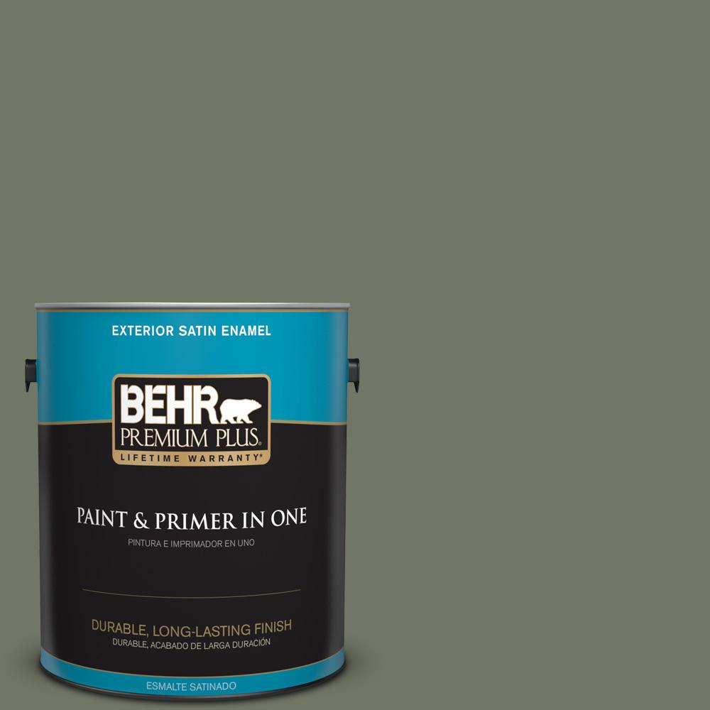 1 gal. #PPU10-19 Conifer Green Satin Enamel Exterior Paint