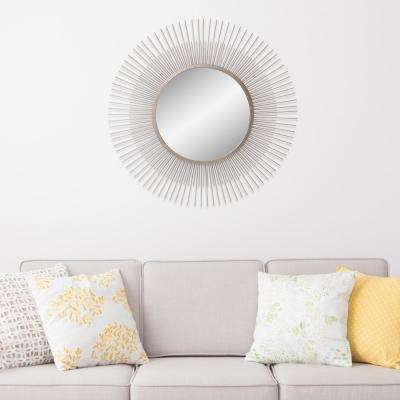 Patton Sunburst Champagne Decorative Mirror