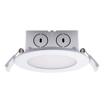 4 in. Soft White Light New Construction or Remodel IC Rated Recessed Integrated LED Kit with J-Box LED Flat Downlight