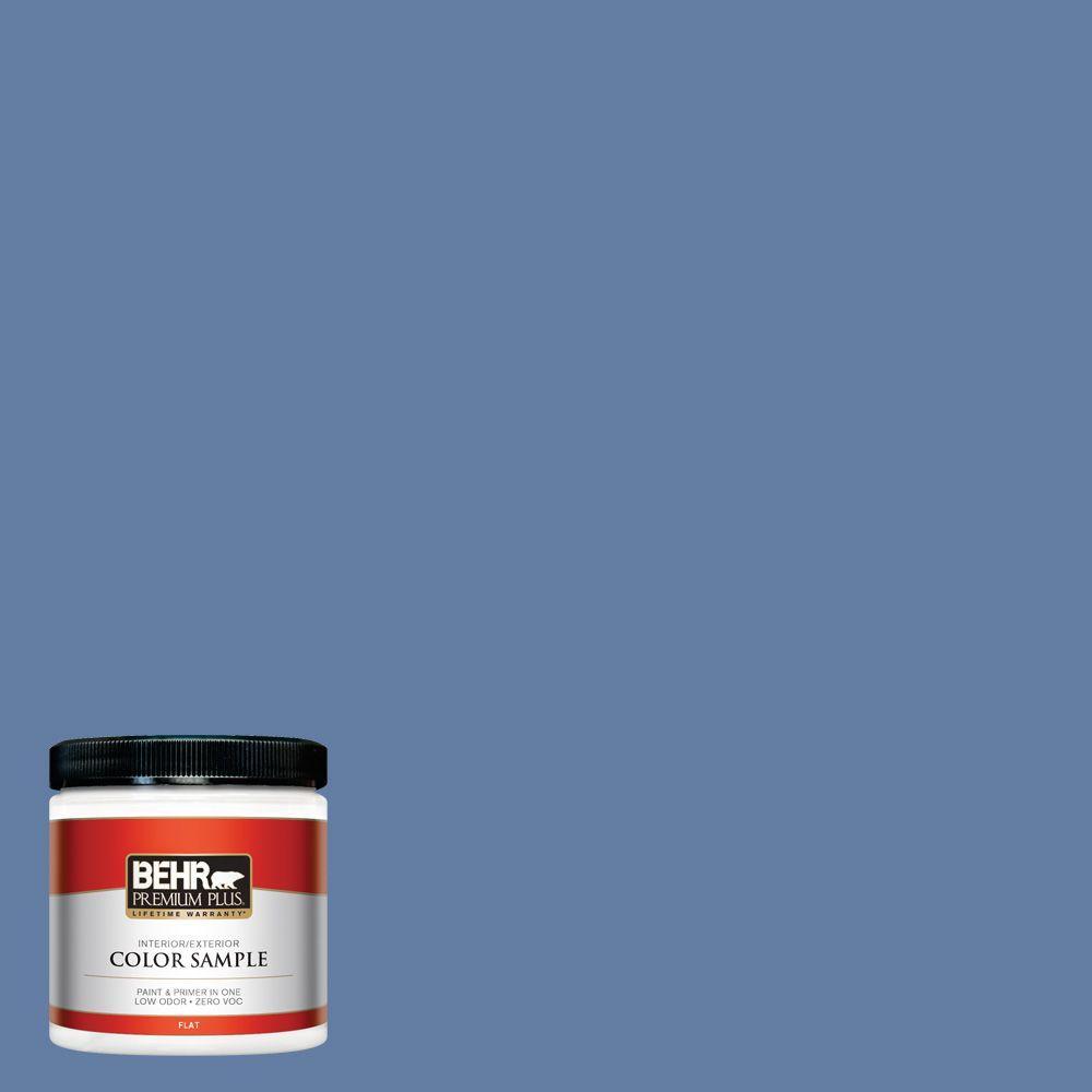 8 oz. #600D-6 Blueberry Patch Interior/Exterior Paint Sample