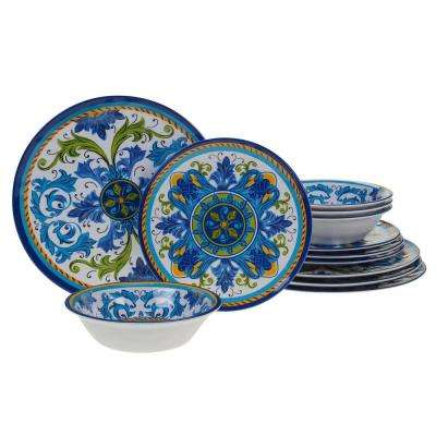 Lucca 12-Piece Multicolor Dinnerware Set