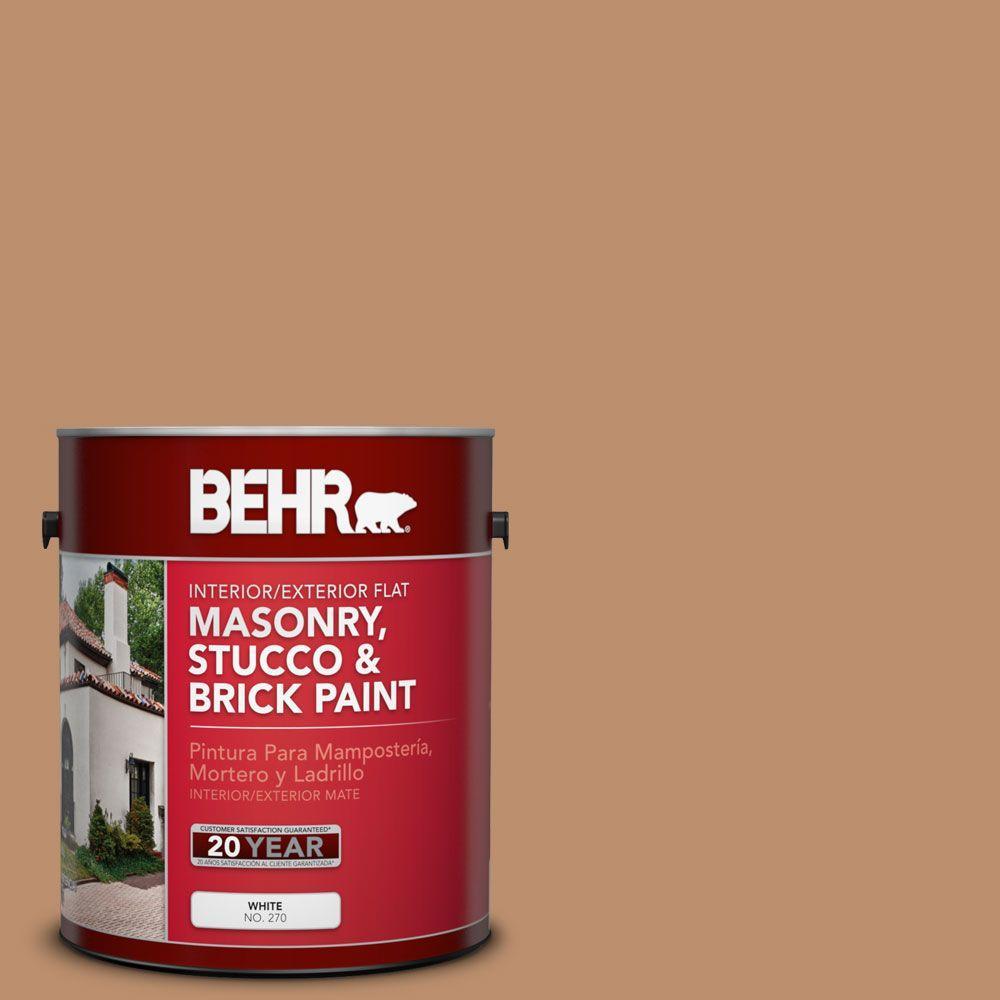 1-gal. #MS-10 Desert Shade Flat Interior/Exterior Masonry, Stucco and Brick Paint