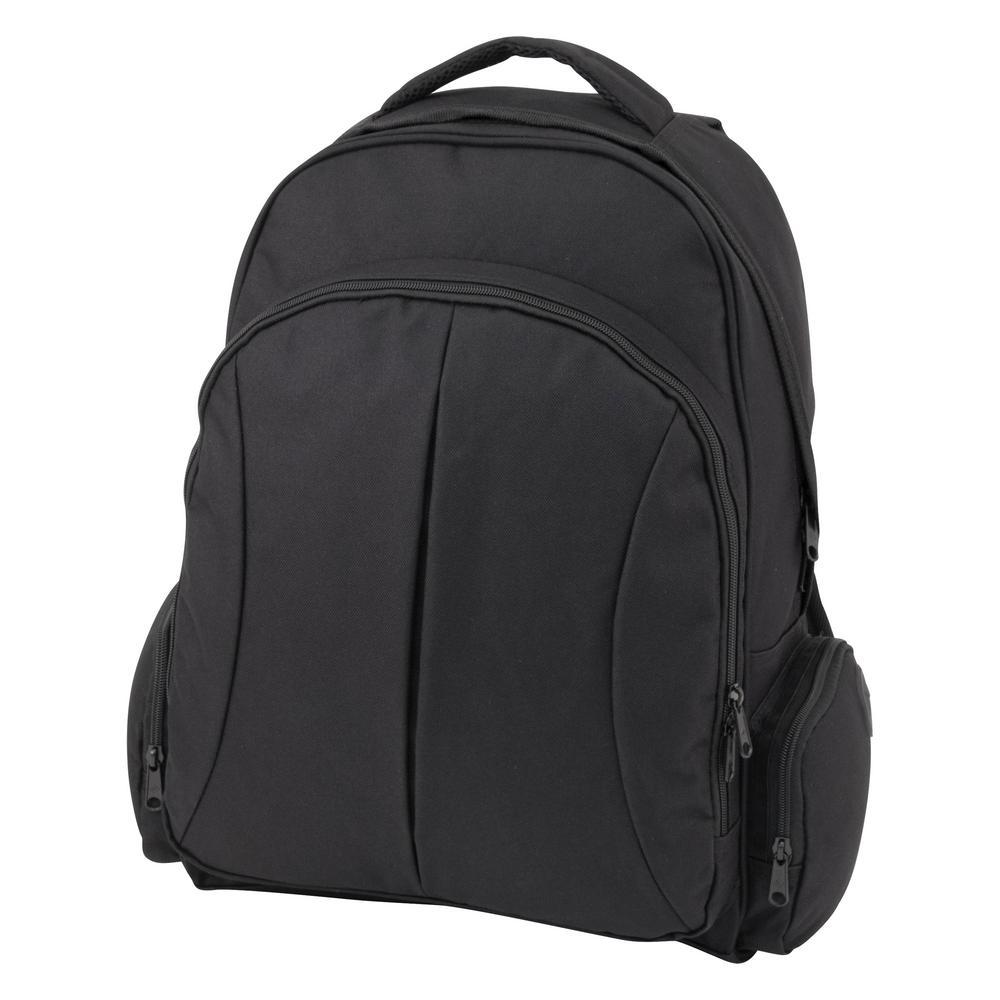 63ce29a73494 Mercury Luggage Black Organizer Backpack MRCVE0017-BK - The Home Depot