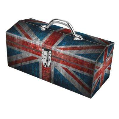 16 in. UK Flag Art Tool Box