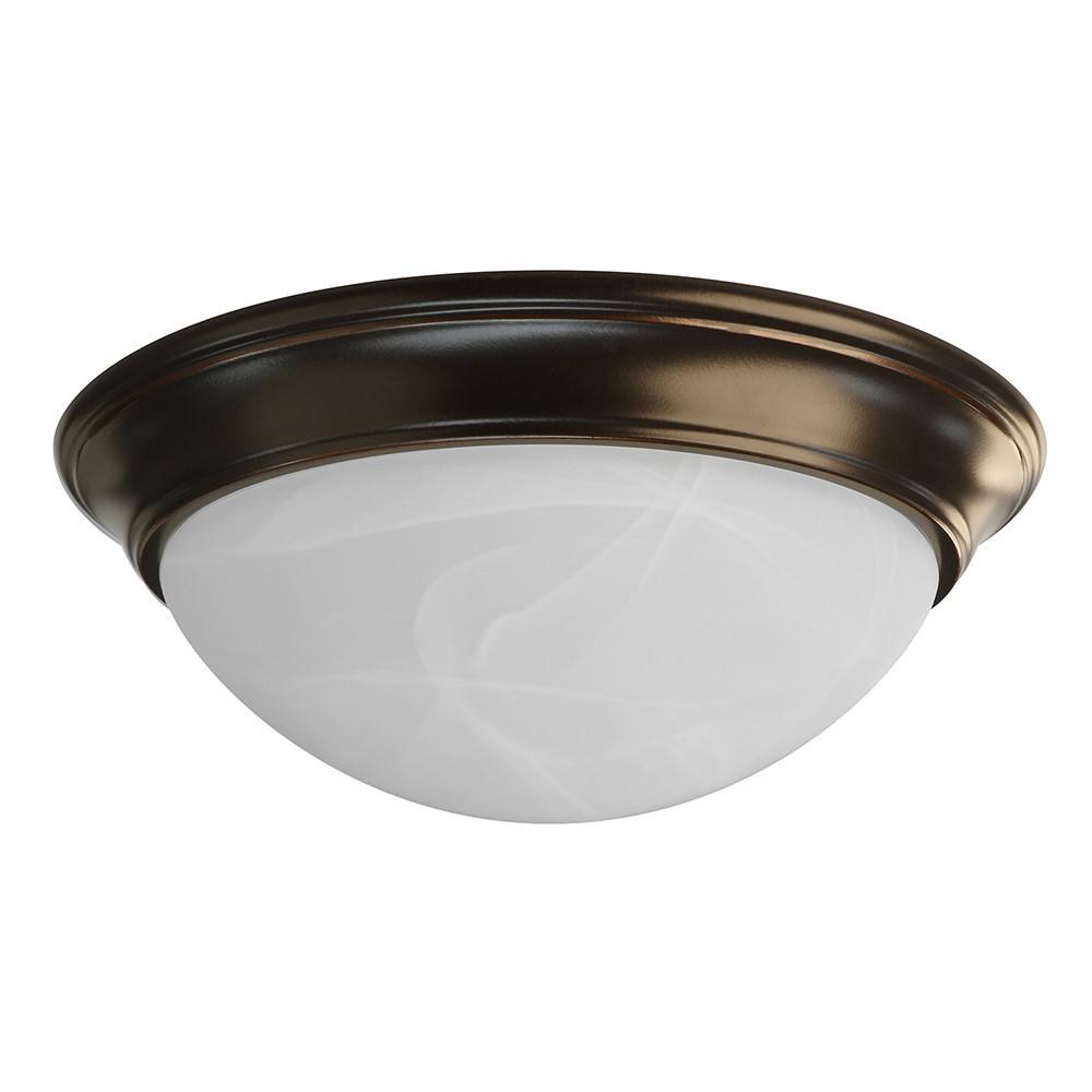 16-Watt Oil-Rubbed Bronze Integrated LED Ceiling Flushmount