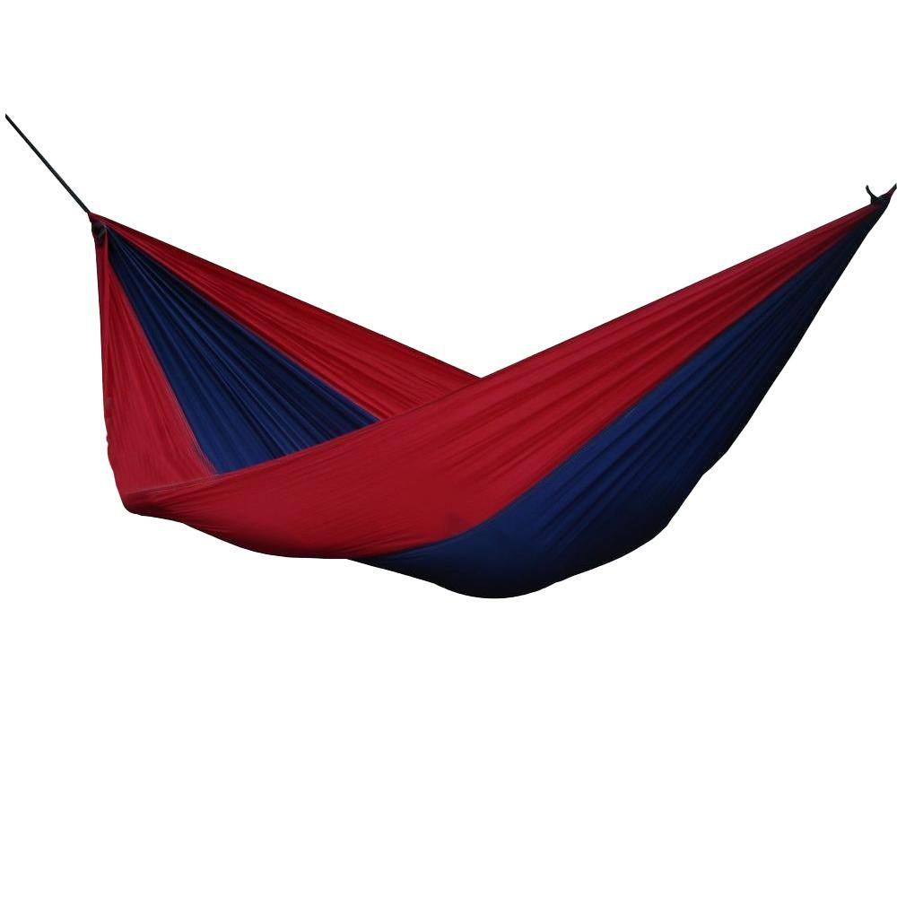 Vivere 10 ft. Parachute Single Hammock in Navy/Red