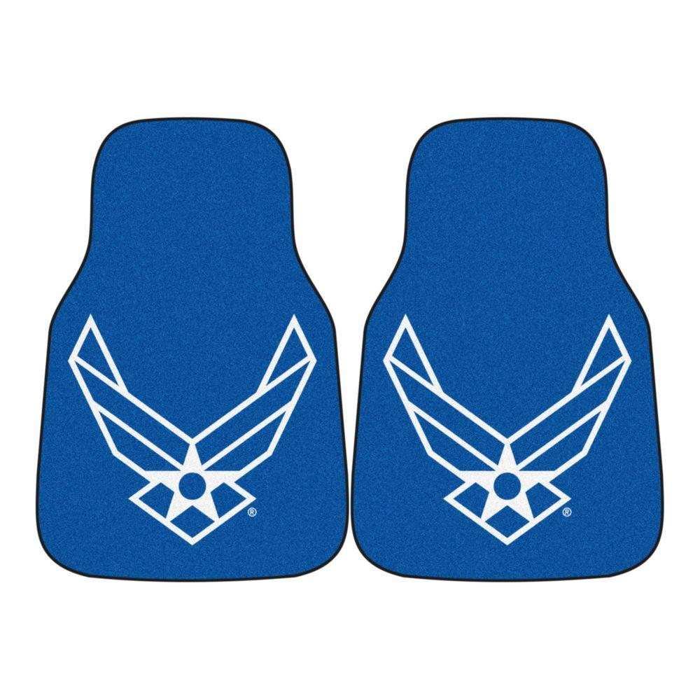 FANMATS U.S. Air Force 18 in. x 27 in. 2-Piece Carpeted Car Mat Set