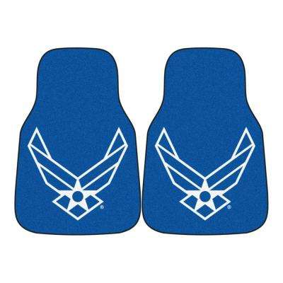 U.S. Air Force 18 in. x 27 in. 2-Piece Carpeted Car Mat Set