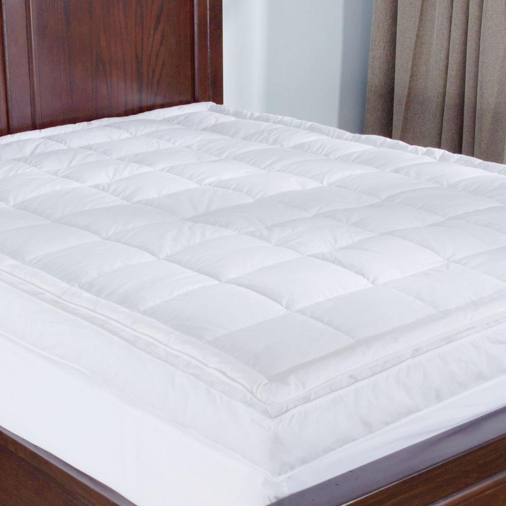 Puredown Premium Goose Down Mattress Pad Bed Topper 75 Feather 25