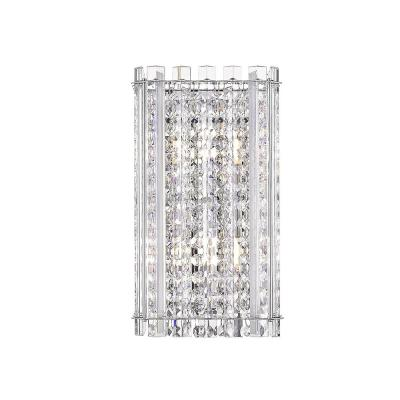 Patience III 6 in. Stainless Steel Mirror Sconce with Crystal Shade