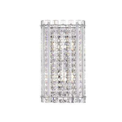 Patience I 6 in. Stainless Steel Mirror Sconce with Crystal Shade