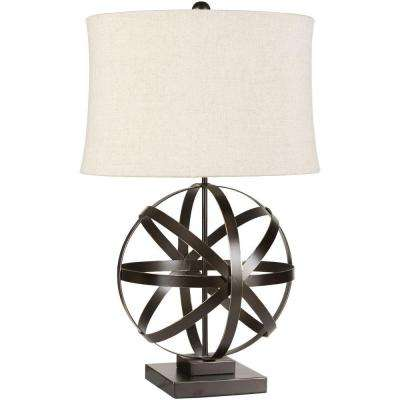 Farrell 28.5 in. Bronze Indoor Table Lamp