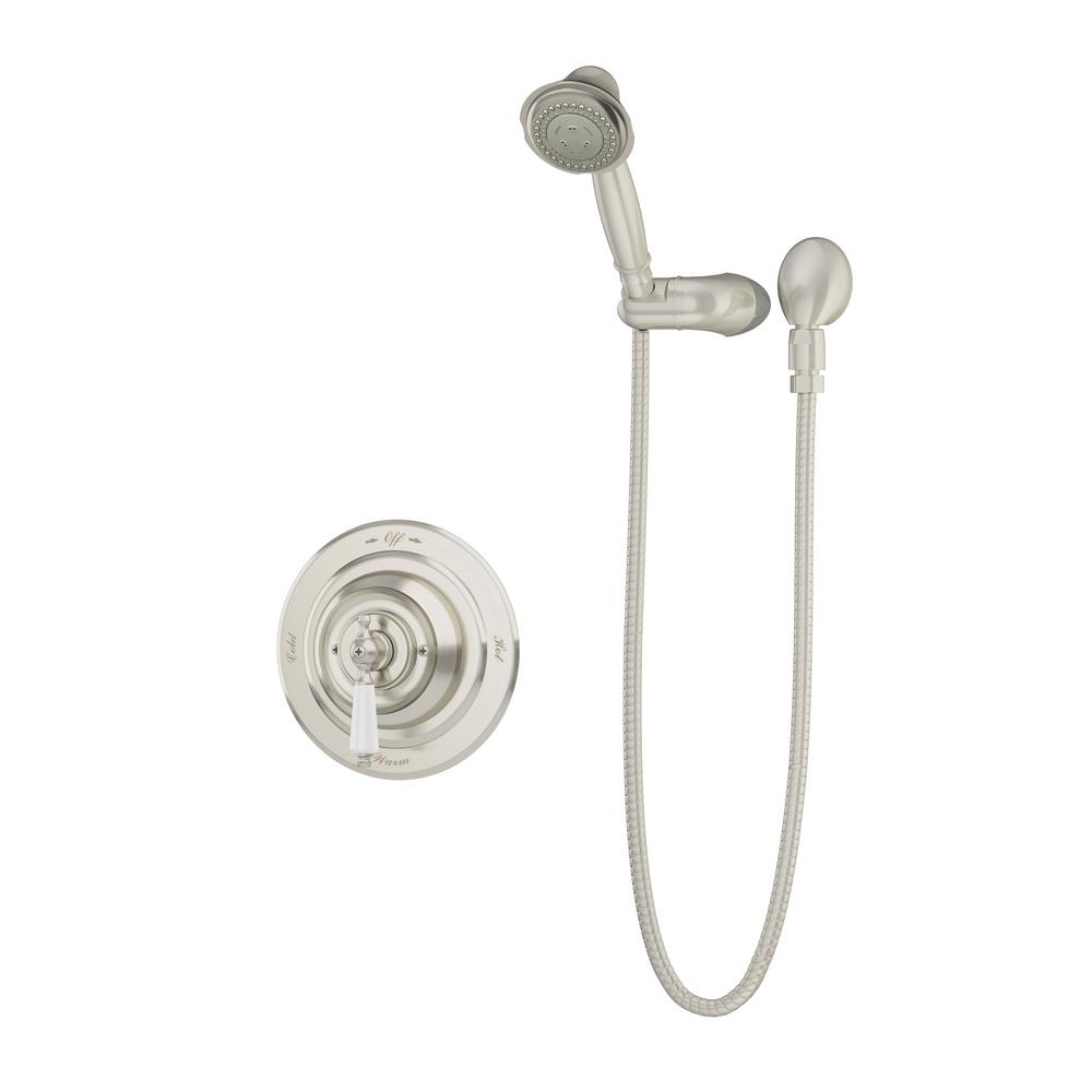 Carrington 3-Spray Hand Shower in Satin Nickel (Valve Included)