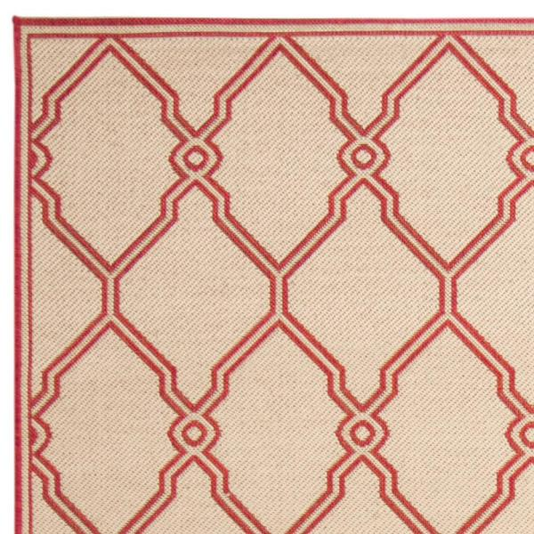Safavieh Linden Red Cream 8 Ft X 10 Ft Area Rug Lnd124q 8 The Home Depot