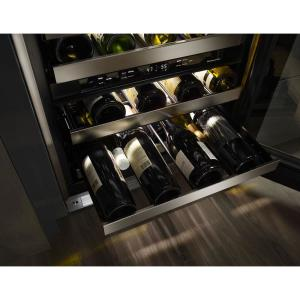 Kitchenaid 24 In W 46 Bottle Dual Zone Wine Cellar Kuwl304ess The