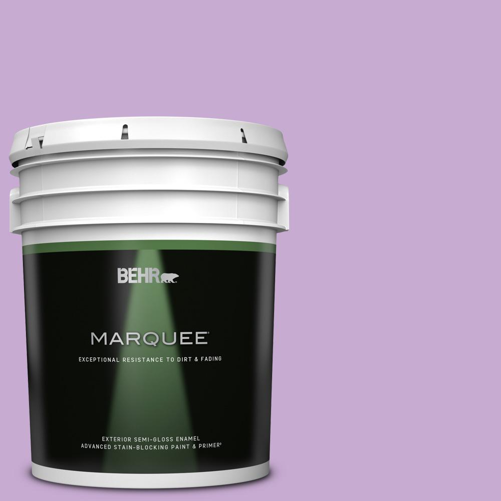 Behr Marquee 5 Gal 660b 4 Pale Orchid Semi Gloss Enamel Exterior Paint Primer 545405 The Home Depot