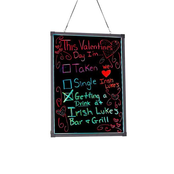 32 in. x 40 in. LED Illuminated Hanging Message Writing Board