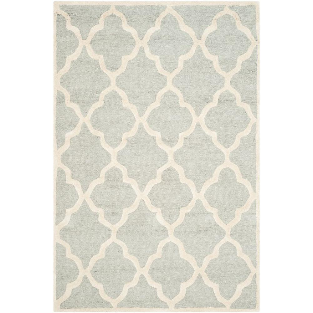 Cambridge Light Gray/Ivory 5 ft. x 8 ft. Area Rug