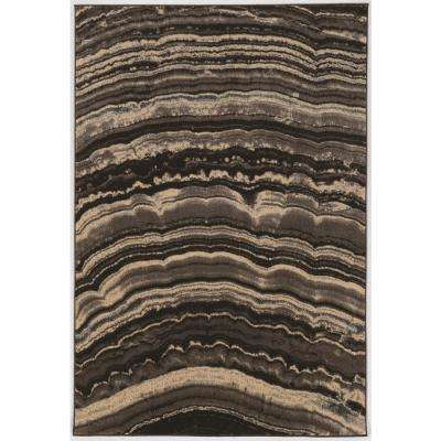 Masters MR20 xylem Brown and Cream 5 ft. x 8 ft. Area Rug