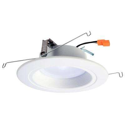 RL 5 in. and 6 in. Matte White Integrated LED Recessed Lighting Retrofit Downlight Trim with 90 CRI, 3000K Soft White