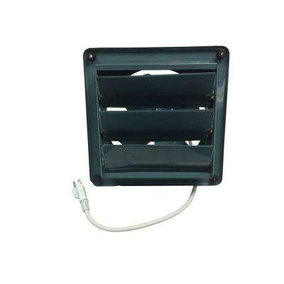 16 in. Green Metal Shutter Exhaust Fan