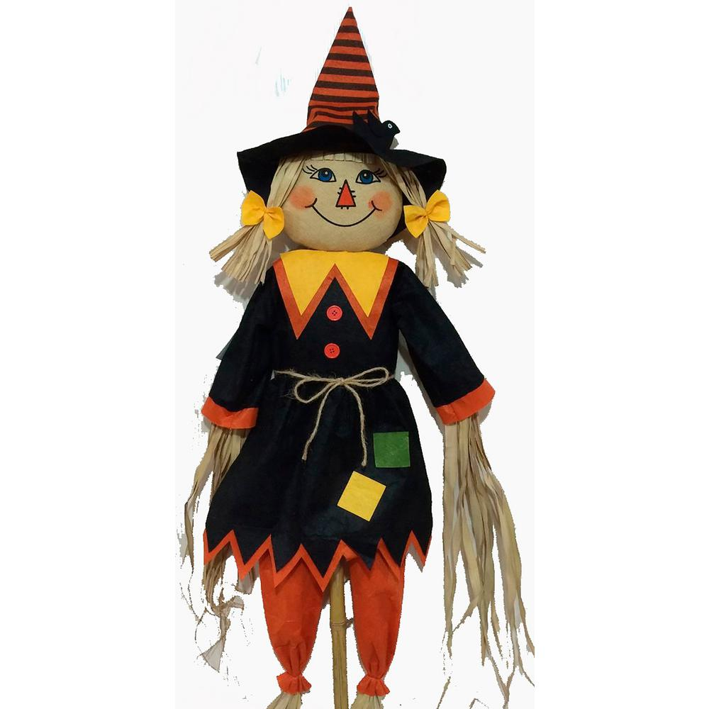 Home Accents Holiday 72 in. Scarecrow Stake Assorted
