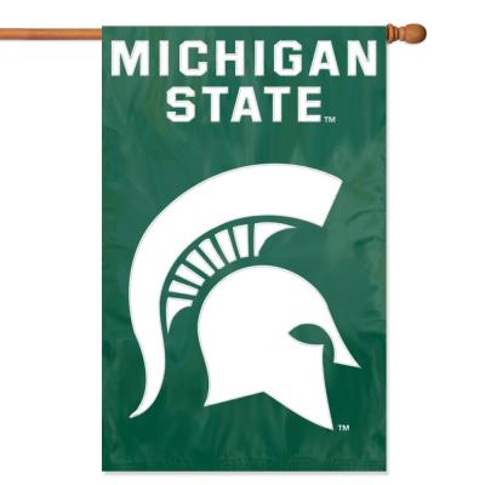 Michigan State Spartans Applique Banner Flag
