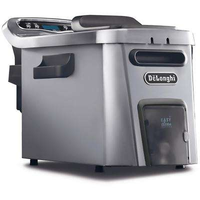 Livenza Dual Zone Digital 4.5L Stainless Steel Deep Fryer with Easy Clean Drain System