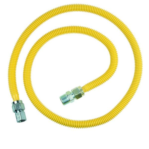 ProCoat 3/4 in. MIP x 1/2 in. FIP x 60 in. Stainless Steel Gas Connector 5/8 in. O.D. (93,200 BTU)