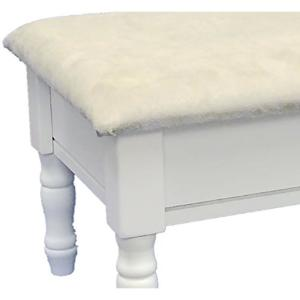Awe Inspiring Homecraft Furniture White Accent Foot Stool H 51 Wh The Theyellowbook Wood Chair Design Ideas Theyellowbookinfo