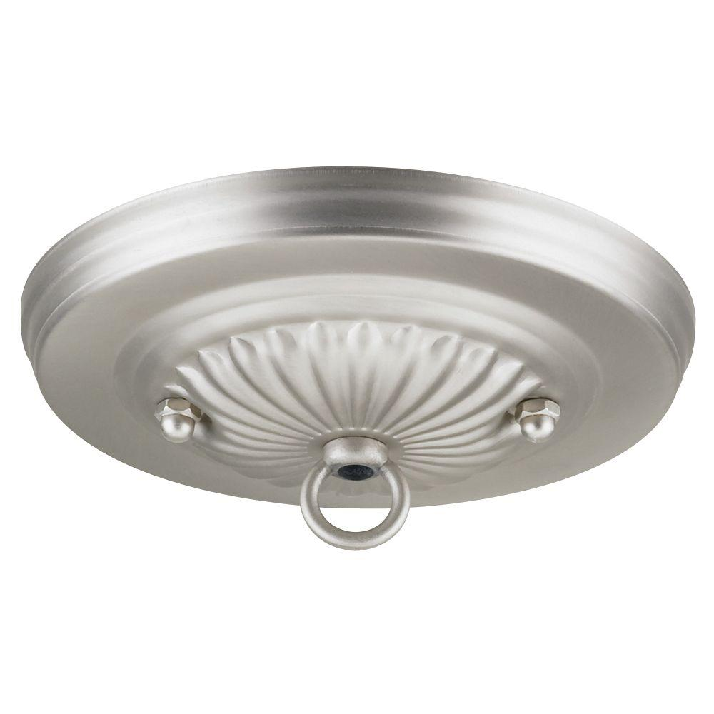 5 in. Brushed Pewter Traditional Canopy Kit