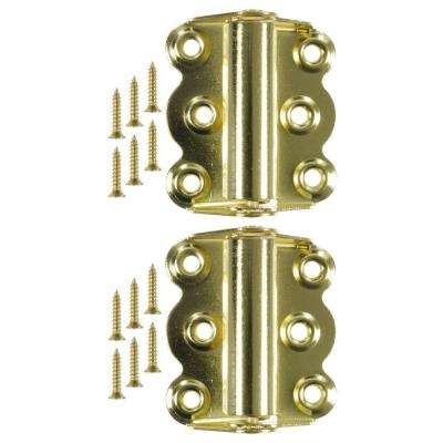 2-3/4 in. Brass Plated Self-Closing Hinge (1-Pair)