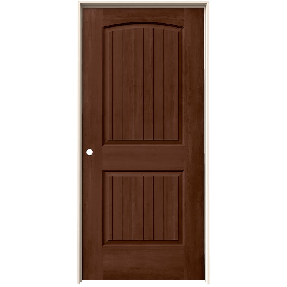 Jeld Wen 36 In X 80 In Santa Fe Milk Chocolate Stain Right Hand Molded Composite Mdf Single