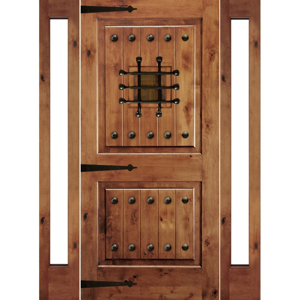 Krosswood Doors 76 In X 96 In Mediterranean Knotty Alder