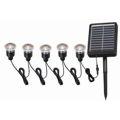 Solar 0 25 Watt Black Outdoor Integrated Led Landscape Path Light With Hardware