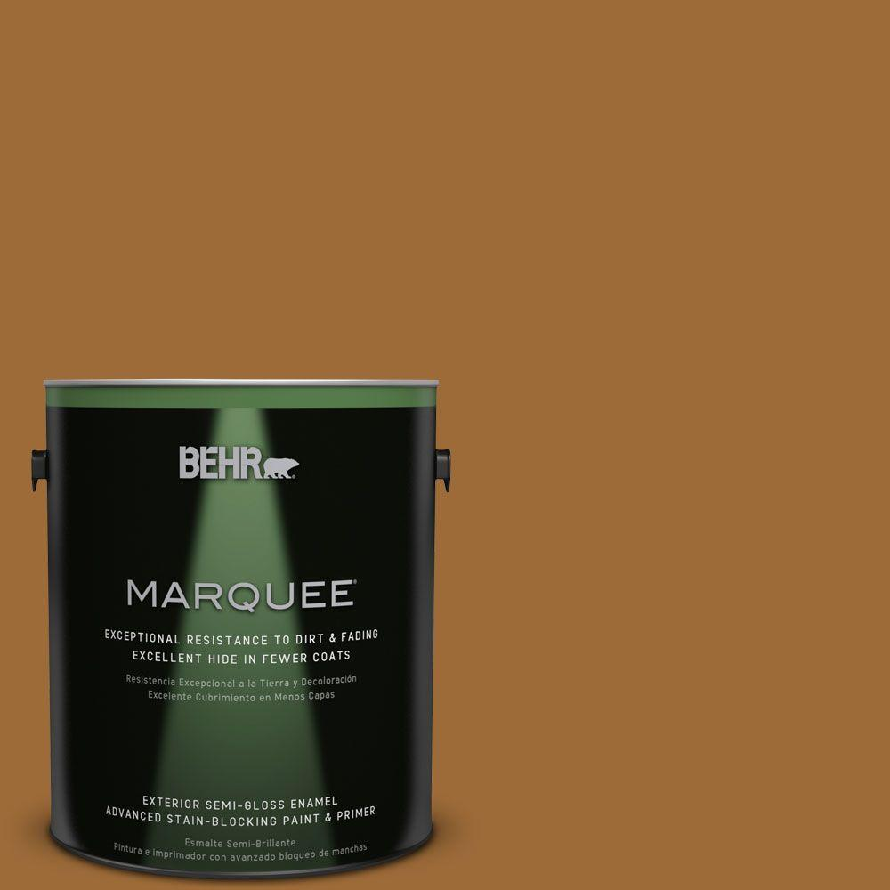BEHR MARQUEE 1-gal. #PPU6-1 Curry Powder Semi-Gloss Enamel Exterior Paint