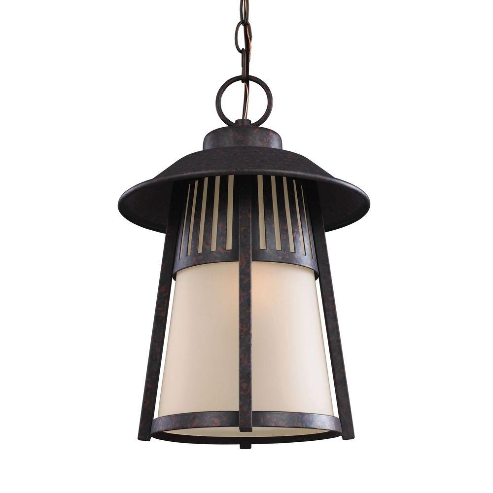 Hamilton Heights 1-Light Oxford Bronze Outdoor Pendant