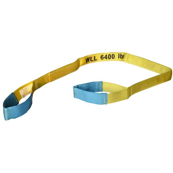 6 ft. x 2 in. Webbing Sling Tow Strap with 6,400 lb. Weight Capacity