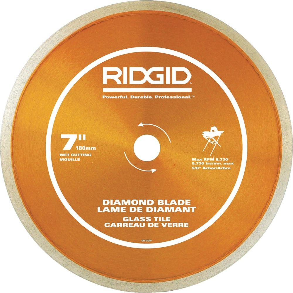 RIDGID 7 in. Glass Tile Blade
